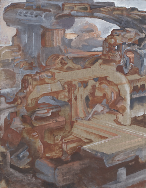 David Brody, Circular Ruins (#1), 2007-2010 Oil on linen 36 x 28 inches