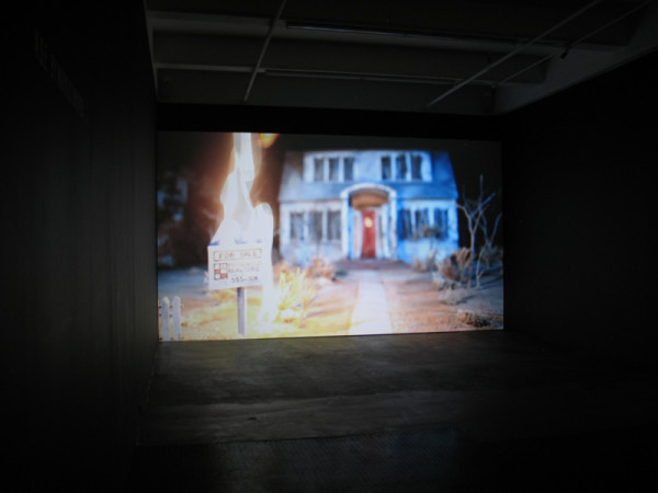 Installation view - Markus Draper, N.O.E., 2011  1 channel HD projection, sound,  9 minutes 30 seconds loop on Blu-ray disc  Edition of 3 + 1 AP
