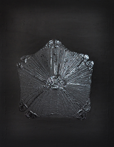 Dushko Petrovich, Black Flower, 2011 Oil on canvas, 14 x 11 inches