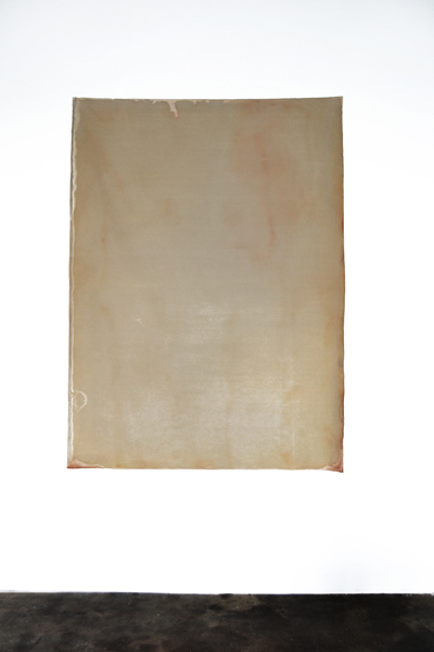 Patricia Dauder, Untitled (Heat), 2011 Bleach on fabric, 172 x 128 cm
