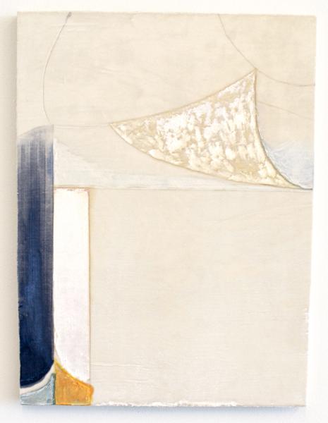 Travis Boyer,  Margarita Abstraction #1, 2012 Silk velvet and dye on panel,  24 x 18 inches