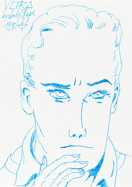 Andy Hope 1930, ULTRA, 2011 Ink pen on paper, 5 15/16 x 3 15/16 inches