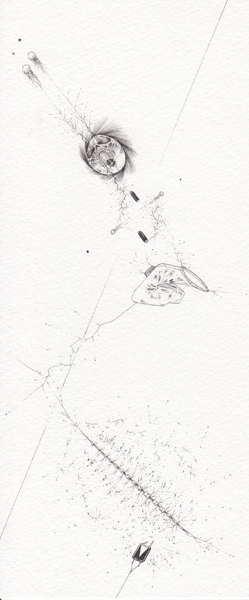 Ralf Ziervogel, Doch, 2010 Ink on paper, 9 3/8 x 4 1/8 inches