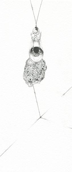 Ralf Ziervogel, Ml, 2010 Ink on paper,  9 3/8 x 4 1/8 inches