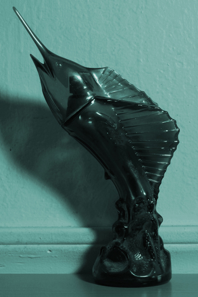 Pablo Guardiola,  Bottle 1(sailfish). Papa liked his things in doubles, 2011 C-print,  15 x 10 inches