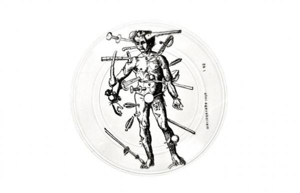 Mario de Vega,  Feedback, 2011 Lathe cut 5'' record with silkscreen