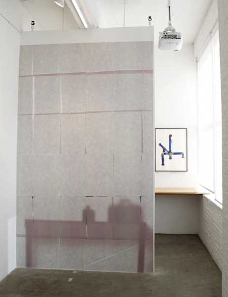 Pablo Guardiola,  untitled, 2009 Poster on wall,  10 x 6 ft