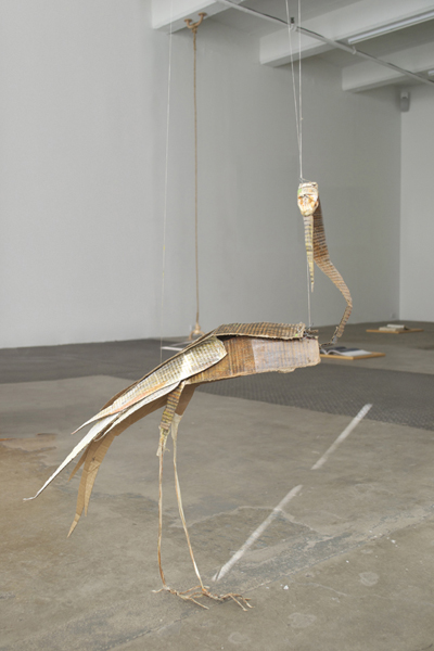Tom Thayer,  Paper Crane, 2010-2011 Mixed media,  Approximately 30 x 24 x 12 inches