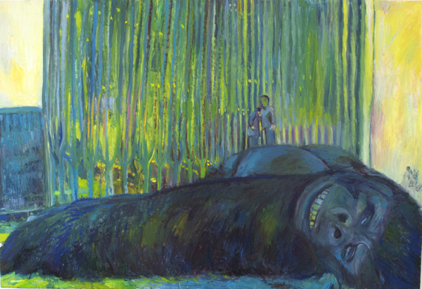 Keith Mayerson,  King Kong, 2004 Oil on linen,  34 x 50 inches