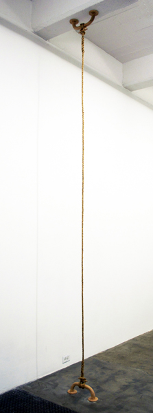 Luke Stettner,  Tributary (suspended), 2012 Wood and hemp,  Dimensions variable