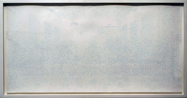 Susan Goldman,  Untitled (Last Supper), 1998 Found Object, Marker,  14 x 25 inches