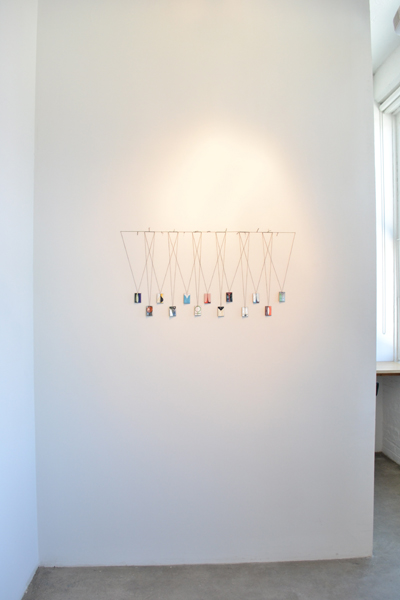 Ulrike Müller,  Installation view of Miniatures, 2010  Vitreous enamel on copper