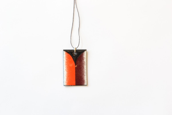 Ulrike Müller,  Miniature, 2011  Vitreous enamel on copper,  2.25 x 1.25 inches each