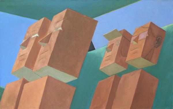 Mernet Larsen, Sunday Drive, 1986 Oil on canvas,  30 x 48 inches (76 x 122 cm)