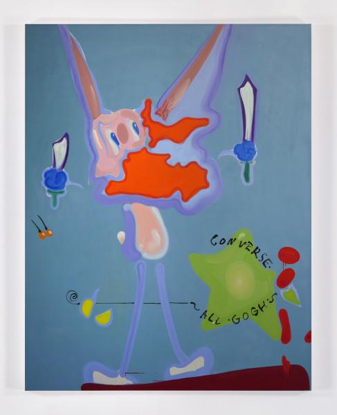 Tamara K.E., je t'aime 11, 2015 Oil on canvas, 72 x 56 inches (182.88 x 142.24 cm)