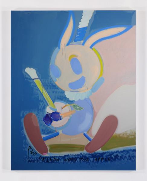 Tamara K.E., je t'aime 13, 2015 Oil on canvas, 72 x 56 inches (182.88 x 142.24 cm)