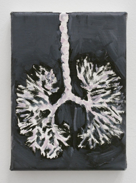 "Charlotte Beaudry,  Untitled, (Bronchioles),  2014 Oil on canvas, 18 x 13 cm (7 ⅛"" x 5 ⅛"")"