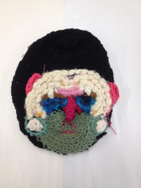 "Stephan Goldrajch, Knit Mask, 2014, 30 cm (11 ¾"")"