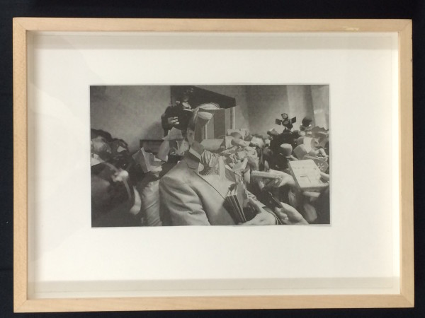 "Robert Suermondt, Untitled, 2014 Black and white collage, 34 x 24 cm (13 ⅜"" x 9 ½"") (framed)"