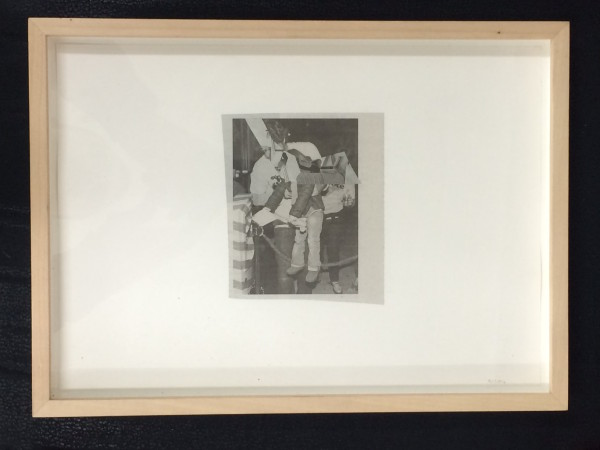 "Robert Suermondt, Untitled, 2014Black and white collage, 34 x 24 cm (13 ⅜"" x 9 ½"") (framed)"