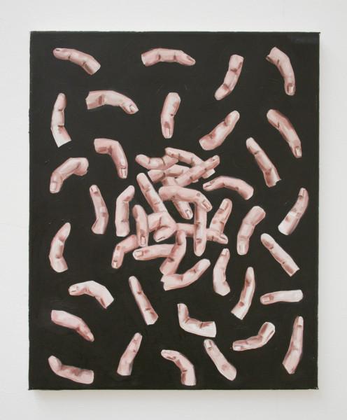 "Charlotte Beaudry,  Février,  2012 Oil on canvas, 50 x 40 cm (19 ⅝"" x 15 ¾"")"