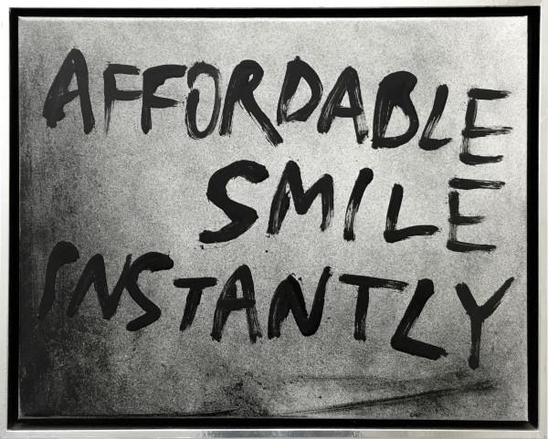 """Jean-Baptiste Bernadet, Affordable Smile Instantly,, 2013 Oil on canvas, 40 x 50 cm (15 ¾"""" x 19 ⅝"""")"""