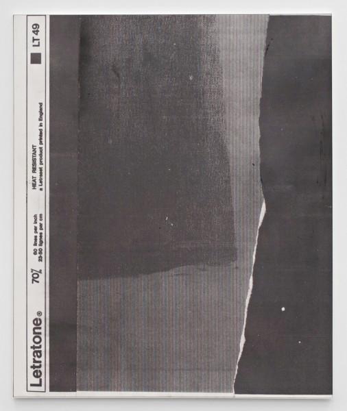 "Manor Grunewald,  E.H.D (Letratone LT49#02), 2015 Oil, acrylics, spraypaint, UV print on synthetic canvas, 150 x 180 cm (59"" x 70 ⅞"")"