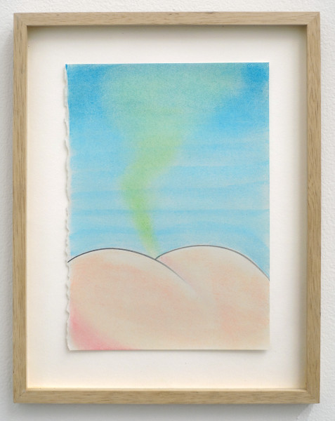 Julien Meert, Untitled, 2015 Pastel on paper, 11 x 8.5 inches (27.94 x 21.59 cm) (framed)