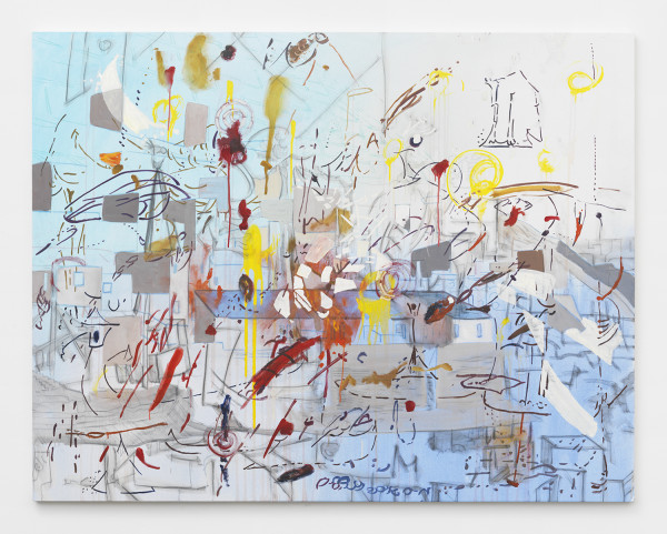 "Chicharron 1, 2015, Mixed media on canvas 140 x 180 cm (55 ⅛"" x 70 ⅞"")"
