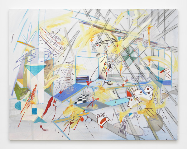 "Chicharron 4, 2015Mixed media on canvas, 140 x 180 cm (55 ⅛"" x 70 ⅞"")"