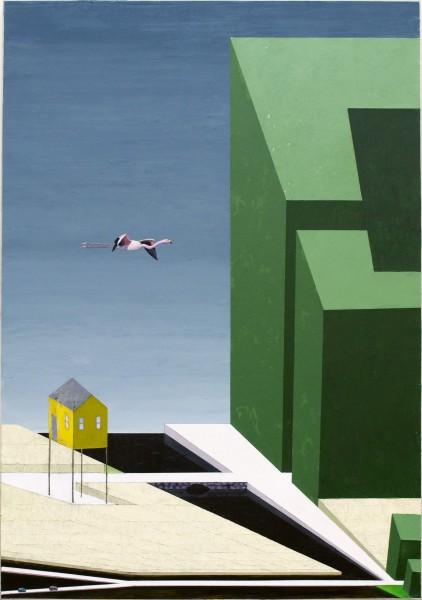 Mernet Larsen, Ozello, 2014Acrylic, mixed media on canvas, 60 x 43.5 inches