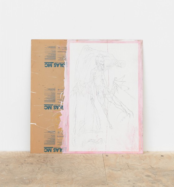 Cristóbal Lehyt, Untitled, 2016 Mixed media on paper on plexiglas, 48 x 48 inches