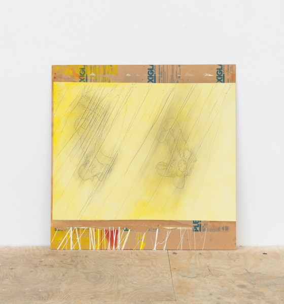 Cristóbal Lehyt, Untitled, 2016 Mixed media on paper on plexiglas, 48 x 48 inches (works grouped in a stack, installed to be viewable only by physically going through them)