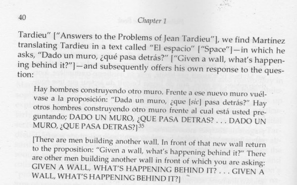 "Excerpt from: Juan Luis Martínez, ""La Nueva Novela"", 1985 as it appears translated in Scott Weintraub's book: ""Juan Luis Martínez's Philosophical Poetics"""
