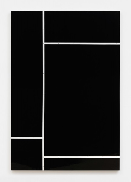 Ricardo Alcaide, Down the line #2, 2016  High gloss industrial paint on MDF board, 70 x 48 inches (177.80 x 121.92 cm)