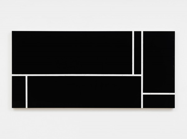 Ricardo Alcaide, Down the line #1, 2016  High gloss industrial paint on MDF board, 33 x 70 inches (83.82 x 177.80 cm)