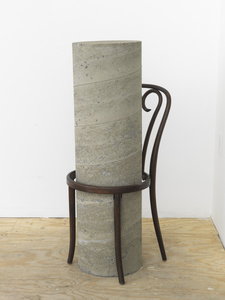 Mario Navarro, Future Island, 2016,  Chair, Concrete, 80 x 51 x 51 inches (215.9 x 129.54 x 129.54 cm)
