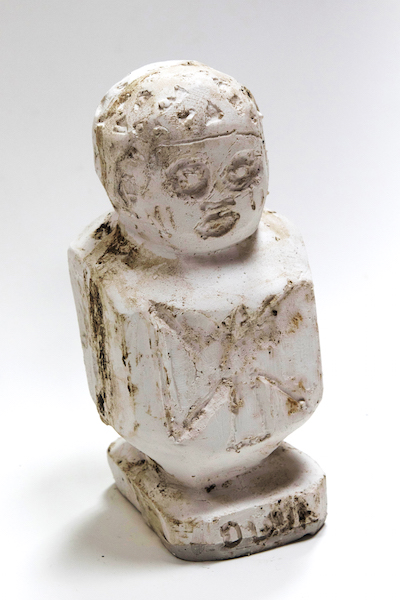 Ogun/ Shango canopic jar, 2017Hydrocal plaster and pigment12 x 6 x 12 in. (30 x 15 x 30 cm)