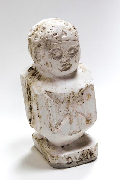 Ogun/ Shango canopic jar, 2017Hydrocal plaster and pigment12 x 6 x 12 in. (30 x 15 x 30 cm)