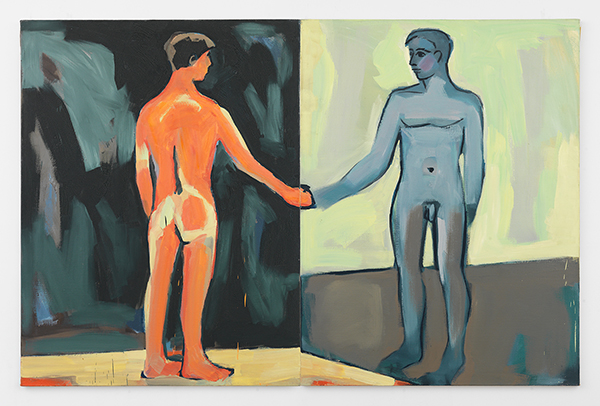 Luis FrangellaMan in the Mirror, 1986Acrylic on canvas, 68 x 105 in.