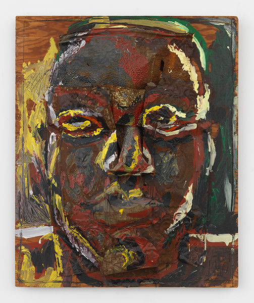 Luis FrangellaFace, c. 1983Acrylic on mixed media sculpture