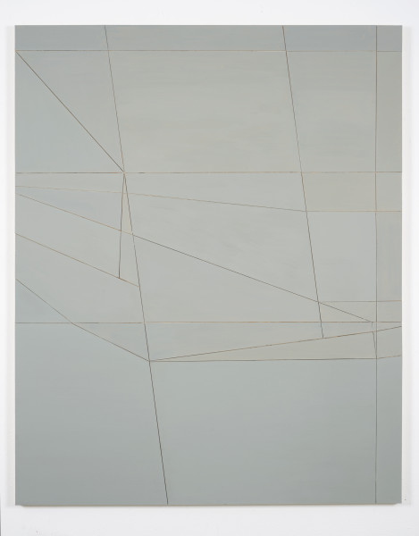 Florian Schmidt, Untitled (Proximity)53, 2017Acrylic, vinyl, lacquer, cardboard and wood, 60 x 48 in (152.4 x 121.92 cm).