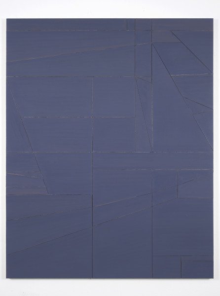Florian Schmidt, Untitled (Proximity)68, 2017Acrylic, vinyl, lacquer, cardboard and wood, 60 x 48 in (152.4 x 121.92 cm).
