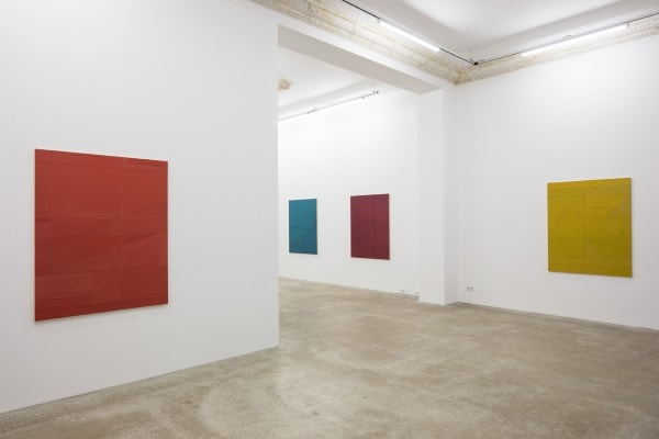 Florian Schmidt, Wall Works - 8 Weeks, 4 Exhibitions, Installation View, Daniel Marzona, 2017