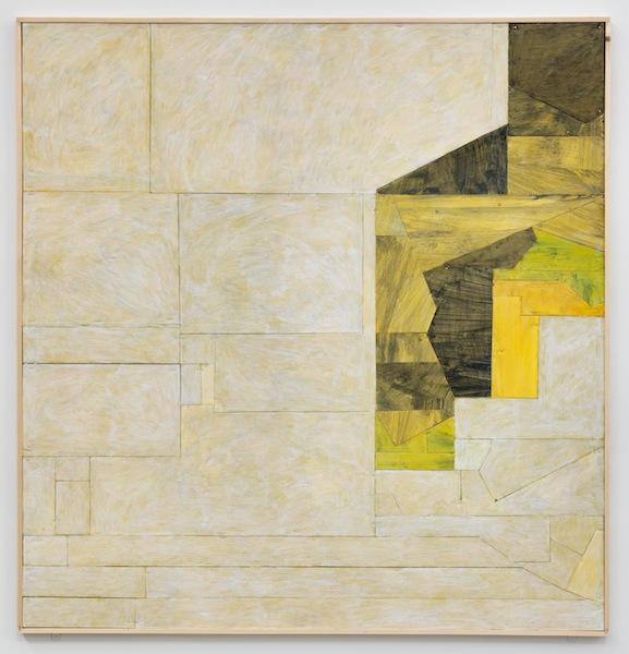 Florian Schmidt, Untitled (Immunity)13, 2012  Acrylic gel, lacquer, vinyl, cardboard, wood, 49 x 47 inches (125 x 120 cm).