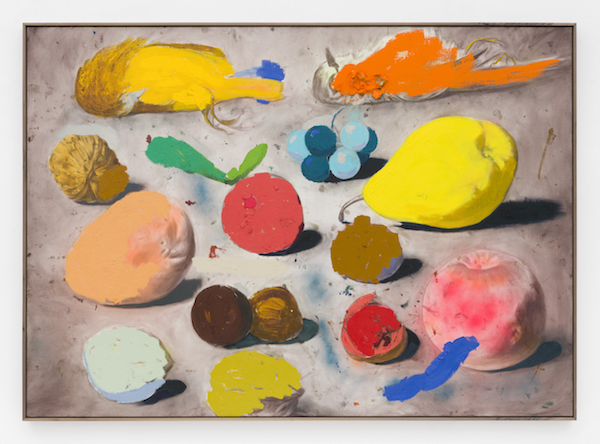 Marc Horowitz, But in fact, at any moment it is exactly as we devise it, in our consciousness., 2017  Oil stick, oil, acrylic spray paint, pencil on canvas in artist's frame84 × 60 inches (213.5 × 152.5 cm)