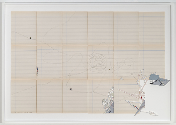 Through That, 2017 collage on paper 25 ½ × 42 inches (64.77 × 106.68 cm)