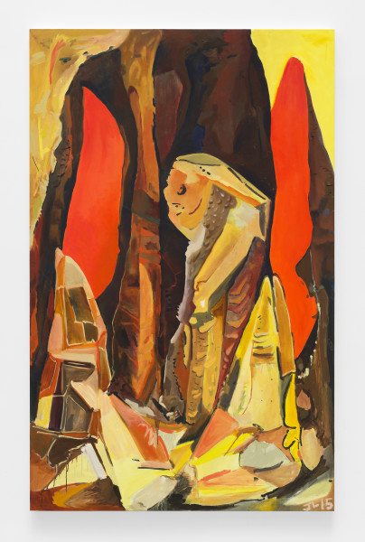 Jasmine Little, Carlsbad Caverns, 2015, Oil on canvas, 94 ¾ × 60 × 1 ½ inches (240.67 × 152.40 × 3.81 cm)
