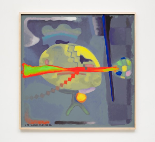 Jeffrey Alan Scudder, J♥ 2018.01.01.18.36, 2018Digital print, 52 x 52 inches  (132.08 x 132.08cm)