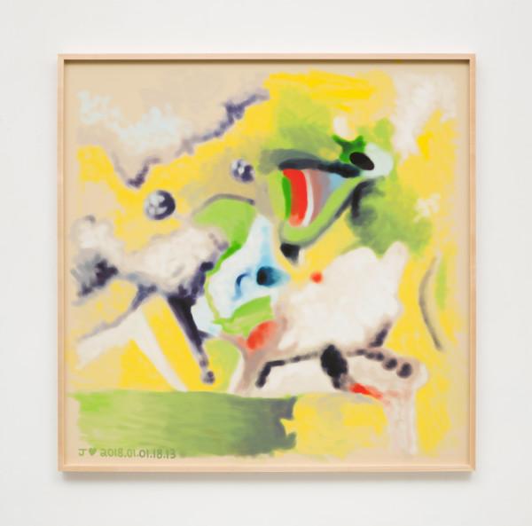 Jeffrey Alan Scudder, J♥ 2018.01.01.18.13, 2018Digital print, 52 x 52 inches  (132.08 x 132.08cm)